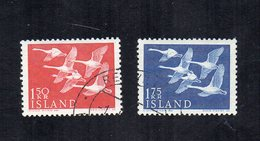 Islanda - 1956 - 2 Valori - Usati - Vedi Foto - (FDC12981) - Usati