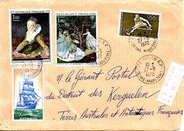 FRANCE. Enveloppe De 1972-73 à Destination Des Kerguelen. - Terres Australes Et Antarctiques Françaises (TAAF)