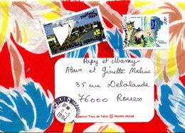 POLYNESIE. Enveloppe En Tissu Ayant Circulé En 1994. - French Polynesia