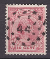N° 37 Puntstempels 44 - Periode 1891-1948 (Wilhelmina)