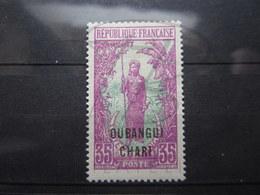 VEND BEAU TIMBRE D ' OUBANGUI N° 34 , X !!! - Oubangui (1915-1936)