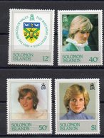 Iles SALOMON  Timbres Neufs ** De 1982 ( Ref 2519 A ) Famille Royale - Lady Diana - Salomon (Iles 1978-...)