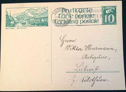 "Schweiz Suisse 1927: Bild-PK / CPI ""BAD RAGAZ / Das Dorfbad) "" Mit O LUZERN 10.X.1927 Nach Biberist (SO) - Interi Postali"