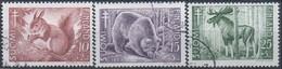 Finnland MiNr. 418-20 - Tuberkolosebekämpfung: Säugetiere - Gestempelt - Bären