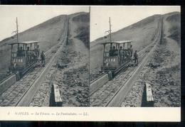 Italië Italy Italia - Naples - Stereo - Le Vesuve Le Funiculaire - Tram - Etna - 1915 - Italië