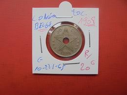 CONGO BELGE 20 Centimes 1908 PEU COURANT - Congo (Belge) & Ruanda-Urundi