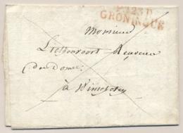 Nederland - 1812 - Complete Franco Vouwbrief Van P123P GRONINGUE Naar Winschoten - Niederlande