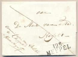 Nederland - 1811 - Complete Vouwbrief Van 123 MEPPEL Naar Hasselt, Portvrij Commissaire De Police - ...-1852 Voorlopers