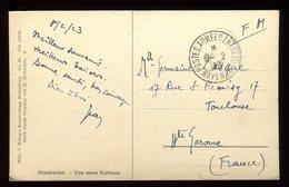 """Oblitération """" Postes Armees Entrepot Mayence """" Sur Carte Postale En FM Pour Toulouse En 1923 - N182 - Marcophilie (Lettres)"""