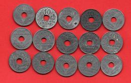 ** FRANCE -  10 Cmes ETAT FRANCAIS 1941   /  Lot De 15 Pièces  ** - France