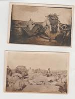 Militaria 1927 Mandat Français En Syrie Chameliers 2 Carte-photos - Guerres - Autres