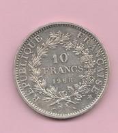 France : 10F Hercule En Argent 1968. - France