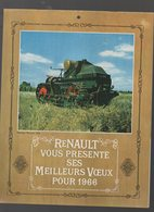 Calendrier RENAULT Machines Agricoles 1966 (CAT 1279) - Calendriers