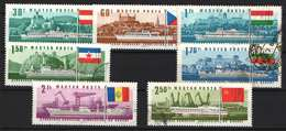 Hungary 1967. Dunau Ships / Transport Nice Set, Used / 7 EUR - Schiffe