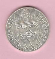 France : 100F Charlemagne En Argent 1990. - K. 10 Franchi