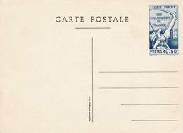 Carte Postale 40c + 60c Des Eclaireurs De France, Non Circulée - Postal Stamped Stationery