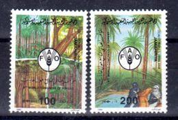 1989; 9e Congrès Mondial De La Forêts; YT 1395 + 1396;, Neuf **, Lot 50652 - Libye