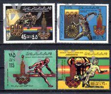 1979; Jeux Olympiques à Moscou; YT 808 -811, Neuf **, Lot 50664 - Libye