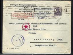 LETTRE DE ERFURT - 1919 - TIMBRE GERMANIA - CENSURE - Allemagne