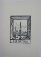 Ex-libris Illustré Français XXème - F. BERTSCH - Ingénieur En Chimie à Strasbourg - Ex-libris