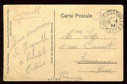 Oblitération Postes Aux Armées 600 Sur Carte Postale De Aley Pour La France - N191 - Marcophilie (Lettres)