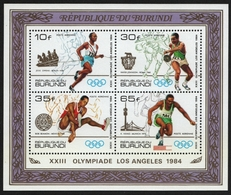 Burundi 1984 - Mi-Nr. Block 121 A ** - MNH - Olympia Los Angeles - Burundi