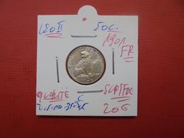 Léopold II. 50 Centimes 1901 FR QUALITE :SUP/FDC - 1865-1909: Leopold II