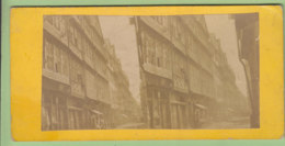 FRANCFORT Vers 1860 - 1870 : La Rue Des Juifs. Frankfurt, Juden Strasse. Bords Du Rhin. Photo Stéréoscopique. 2 Scans. - Stereoscopic