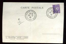 """Oblitération """" Bolchevisme Contre Europe """" Sur Carte Postale ( Pli Central) Anti Bolchevique En 1943 - N195 - Poststempel (Briefe)"""