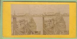 COLOGNE Vers 1860 - 1870 : Pont De Bateaux. Koln. Photo Stéréoscopique. 2 Scans. - Stereoscopic