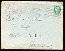 Enveloppe De L' Aide Aux Prisonniers De Guerre De Paris Pour Berlin En 1940 - N196 - Marcophilie (Lettres)