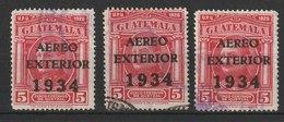 MiNr. 273 Guatemala /  1934, 7. Aug. Flugpostmarken Für Den Auslandsverkehr. MiNr. 225 Und 227 Mit Dreizeiligem Aufdruck - Guatemala