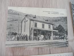 CPA 48 Lozère Chapeauroux La Gare Plis + Adhérences Au Dos - Autres Communes