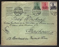 LETTRE DE HANOVRE - 1918 - HANNOVER - TIMBRES TYPE GERMANIA - Briefe U. Dokumente