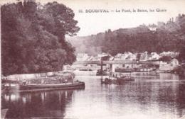 78 - Yvelines -  BOUGIVAL - Le Pont - La Seine - Les Quais - Peniches - Bougival