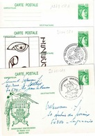 3 Cartes Entre 1973 Et 2104 CP 1 Dont Une Non Circules - Entiers Postaux
