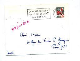 Lettre Flamme La Ferte Chateau - Marcophilie (Lettres)