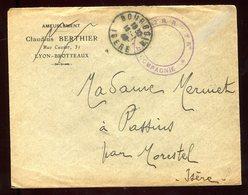 Enveloppe En FM De Bourgoin Pour Passins En 1940 - N204 - Marcophilie (Lettres)