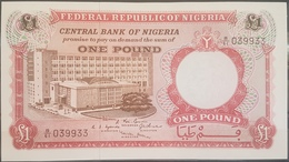 Nigeria UNC 1968 1 Pound Banknote #039933 - Nigeria