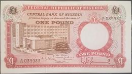 Nigeria UNC 1967 P.8 1 Pound Banknote #039933 Serial Number - Nigeria