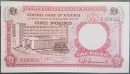 Nigeria UNC 1968 1 Pound Banknote #039930 Radar Number - Nigeria