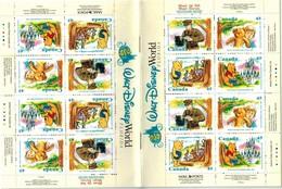 MWD-BK6-BOOKLET  MINT PF/MNH ¤ CANADA 1996 BOOKLET ¤ THE WORLD OF WALT DISNEY -- FRIENDS OF WALT DISNEY - Disney
