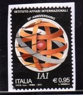 ITALIA REPUBBLICA ITALY REPUBLIC 2015 IAI ISTITUO PER GLI AFFARI ISTITUZIONALI € 0,95 USATO USED OBLITERE' - 2011-...: Oblitérés