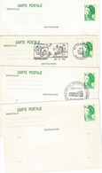 3 Cartes 2186 CP 1 Dont Une Totalement Vierge Et Une 2318 Neuve - Lots Et Collections : Entiers Et PAP