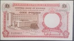 Nigeria UNC 1968 1 Pound Banknote #039903 - Nigeria