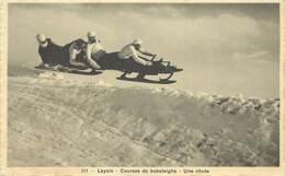 LEYSIN - Courses De Bobsleighs, Une Chute. - VD Vaud