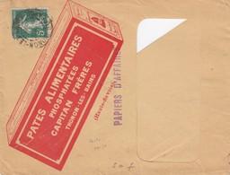 ENVELOPPE A LUCARNE PATES ALIMENTAIRES CAPITAN FRERES THONON-LES-BAIN. VERSO VIGNETTE LIGUE ANTIALLEMANDE - 1921-1960: Moderne