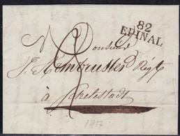 France, Vosges - 82/Epinal Sur LAC De 1817 - Marcofilia (sobres)