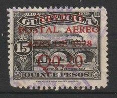 MiNr. 236 Guatemala / 1929, 20. Mai. Freimarken: Nationale Symbole. MiNr. 216 Und 205 Mit Karminrotem Vierzeiligen Aufdr - Guatemala