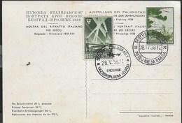 STORIA POSTALE JUGOSLAVIA - BELGRADO 28.05.1938 - MOSTRA DEL RITRATTO ITALIANO SU CARTOLINA - Brieven En Documenten